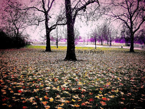 Instant Download 5jpg Green Orange UK London Hyde by YiaSuPyksida, €2.50