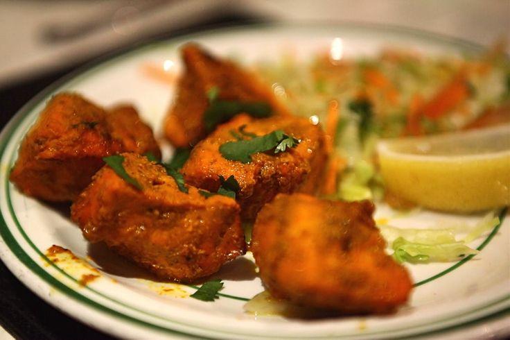 Chicken Tikka starter, balti house in Stirchley, Birmingham.