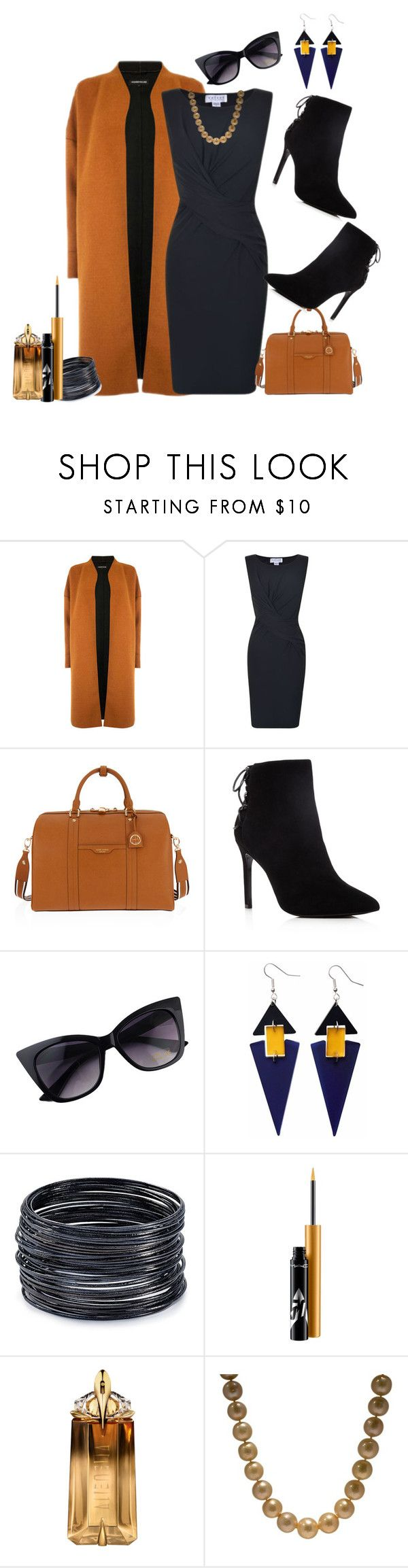 """Velvet dress!"" by schneerose ❤ liked on Polyvore featuring Warehouse, Velvet, Henri Bendel, Charles David, Toolally, ABS by Allen Schwartz, MAC Cosmetics and Thierry Mugler"