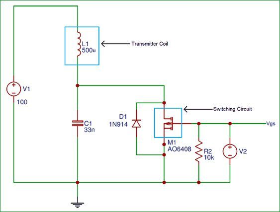 Wireless Charger Transmitter Circuit diagram DIY Project in 2019