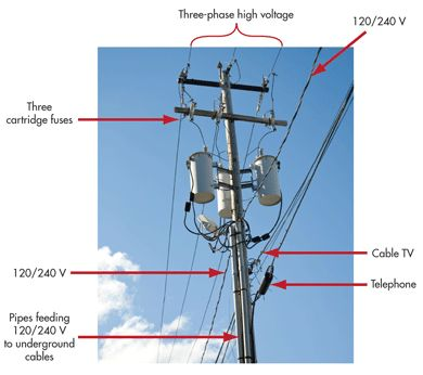 if the high voltage lines at the top of a utility pole they can land on the lower voltage