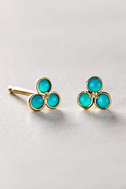 Triad Studs in 14k Gold - anthropologie.com #anthropologie #AnthroFave