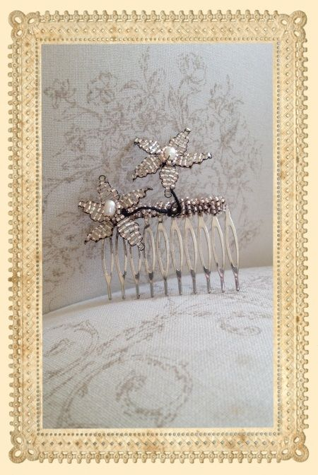 Stacey Hannan Designs - Double daisy bridal hair comb, €60.00 (http://www.staceyhannandesigns.com/double-daisy-bridal-hair-comb/)