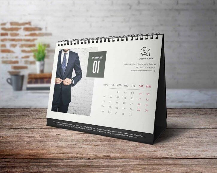 Prazi Simple And Clean Desk Calendar Design 2020 Calendar Design Template Calendar Design Desk Calendar Design