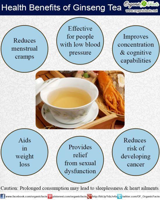 Ginseng tea benefits :)