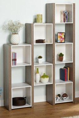 White/Sonoma Oak Urban Room Divider