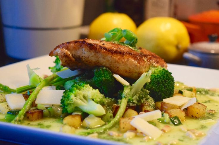 Kylling med pesto og deilige grønnsaker – gladkokken