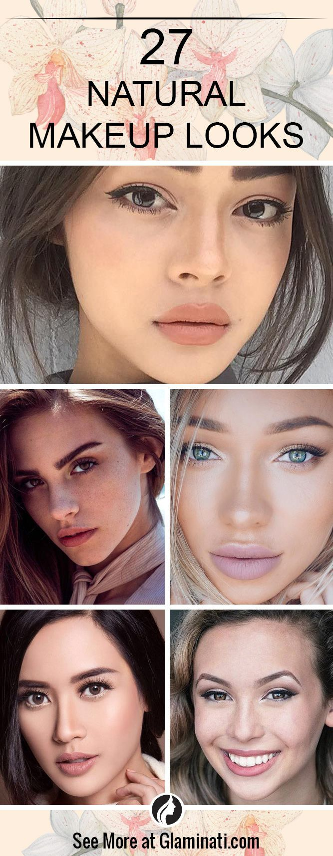 Natural makeup looks as if you do not wear it at all. It is flawless and fresh, which is perfect for the summer. We have collected 27 makeup ideas that can impress your boyfriend. ★ See more: http://glaminati.com/best-natural-makeup-looks/?utm_source=Pinterest&utm_medium=Social&utm_campaign=CG-best-natural-makeup-looks-1-19072016