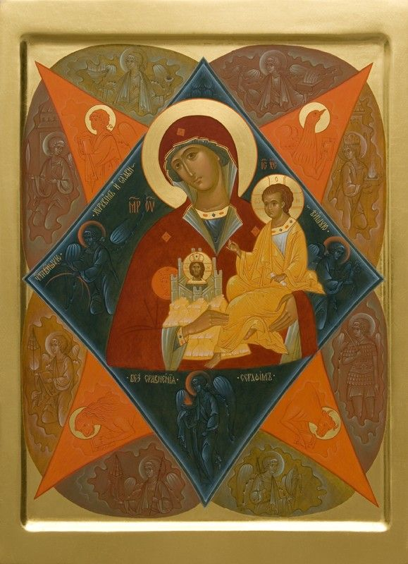 The Unburnt Bush Icon of the Mother of God