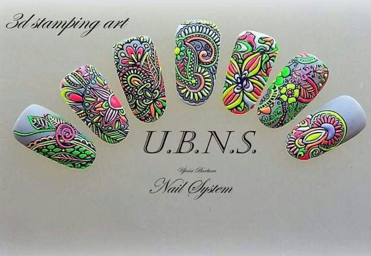 3d stamping nail art
