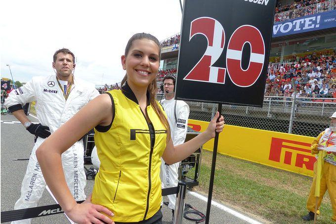 Another gridgirl at Barcelona Formula1 GP 2014