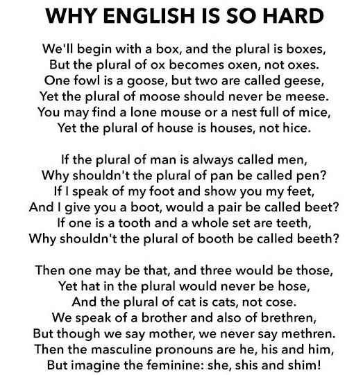 why english is a fun language essay English as a second language essay examples 18 total results the development of your english language 1,259 words 3 pages  english language as a second language 2,520 words 6 pages placing esl students in the english speaking classes is a realistic method 536 words 1 page.