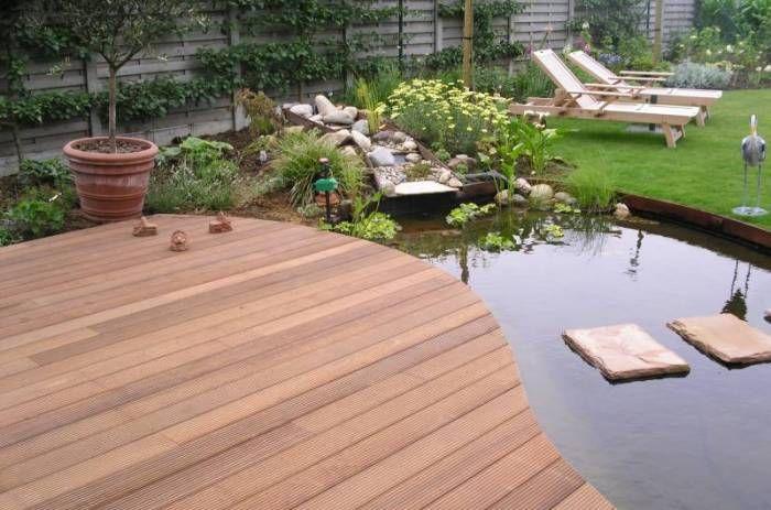 Terrasse en bois tang recherche google etang for Etang jardin