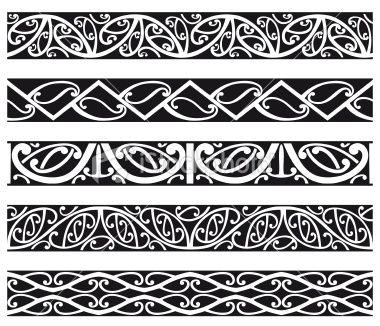 Maori Borders Royalty Free Stock Vector Art Illustration