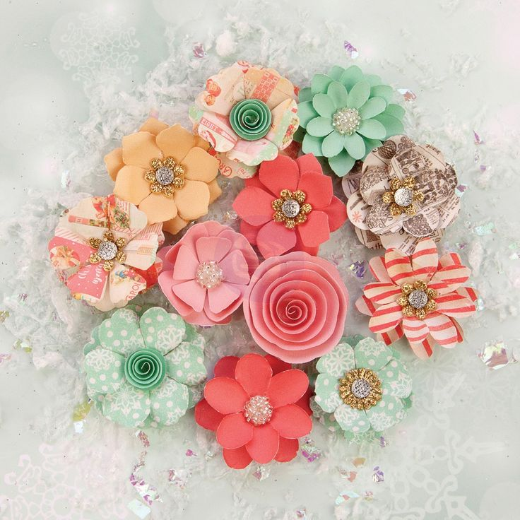 Sweet Peppermint Flowers - Holiday Kisses
