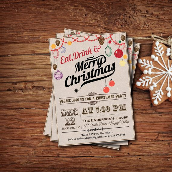 22 best images about HGM – Diy Christmas Party Invitations