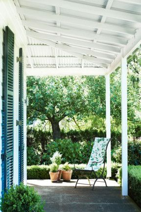 On the verandah at 'Bobingah', a stunning country home at Wildes Meadow in the Southern Highlands, NSW//Photography Prue Ruscoe