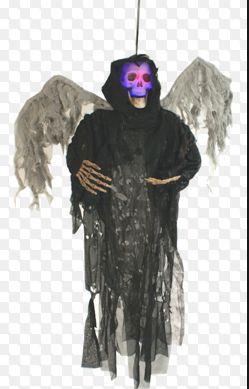 Hanging Black Winged Reaper - Lights Up