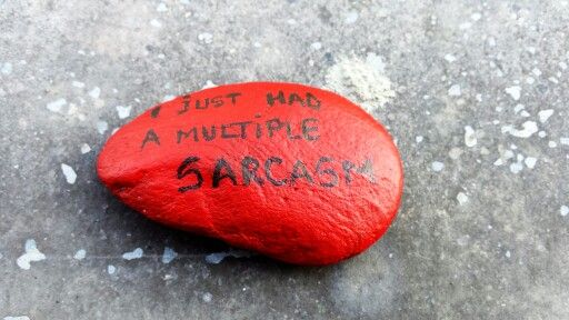 painted stone.  see, you don t have to feel guilty :))