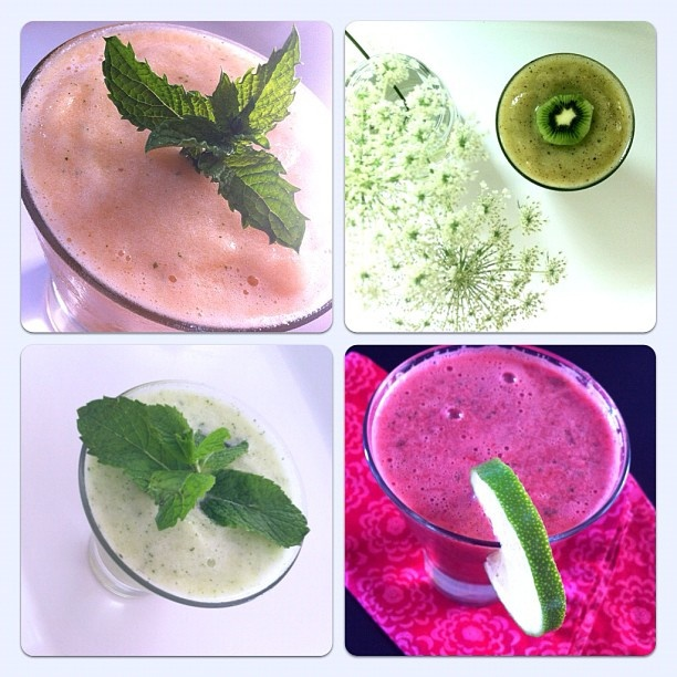 Hello friends! As promised, here is the review on #frozen #melon or #sorbet with just an added ingredients of #mint and #lime or #lemon with no sugar or fiod dyes. They are a great thirst quencher for hot summer days.  Top left is #cantaloupe, pretty in colour, tastes like popsicle.  For some reason, it does not have that excitement I was looking for since I have already tasted the others. However, if this is the only kind you have, it is still a great frozen treat:) Top right is #honeydew…