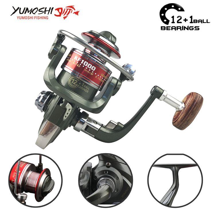 Yumoshi 1000-7000 12+1BB fishing Reel fly reel Fishing Reels Aluminum Spool Carretilha de pesca molinete Shimano Abu garcia