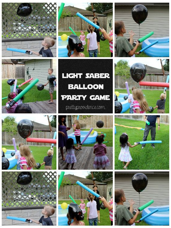 this star wars kids game was a hit! so fun | star wars party food, decor and kids games on pretty providence