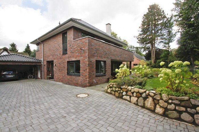 Dunkelrot klinker houses pinterest house for Klinker haus modern