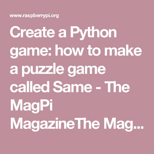 11 best it images on pinterest coding programming and authors learn how to code a simple python game called same our guide to designing making and releasing a python game is a great guide to coding fandeluxe Images