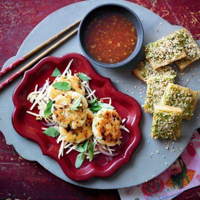 Duo of Chinese fishcakes & chilli prawn toasts
