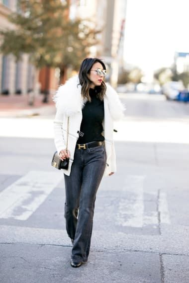 Minimalist Outfit from styleofsam with Kate Spade New York Sunglasses, Ermanno Scervino Coats, River Island Tops, Rebecca Minkoff Crossbody Bags, Chloé Belts