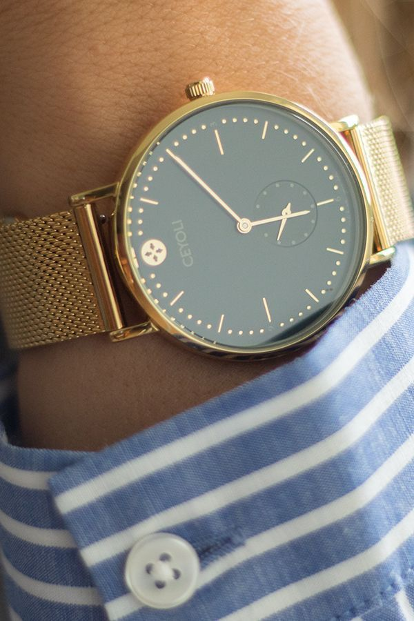 Watch Celebrate Line SPECIAL EDITION Navy Gold Meshband Gold
