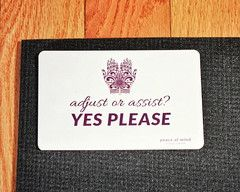 Consent Card for Hands On Yoga Adjusts and Assists - 1 Card - Peace of Mind Yoga Gear
