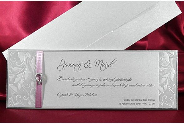 Pink ribbon wedding cardsweddinginvitationstouchco – Muslim Wedding Invitation Cards Uk