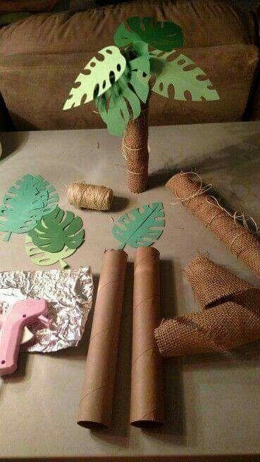 Árboles cartón de papel de cosina