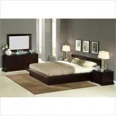 Set Kamar Tidur Wood 's Modern