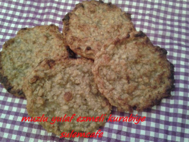 muzlu yulaf ezmeli kurabiye,sulemcafe