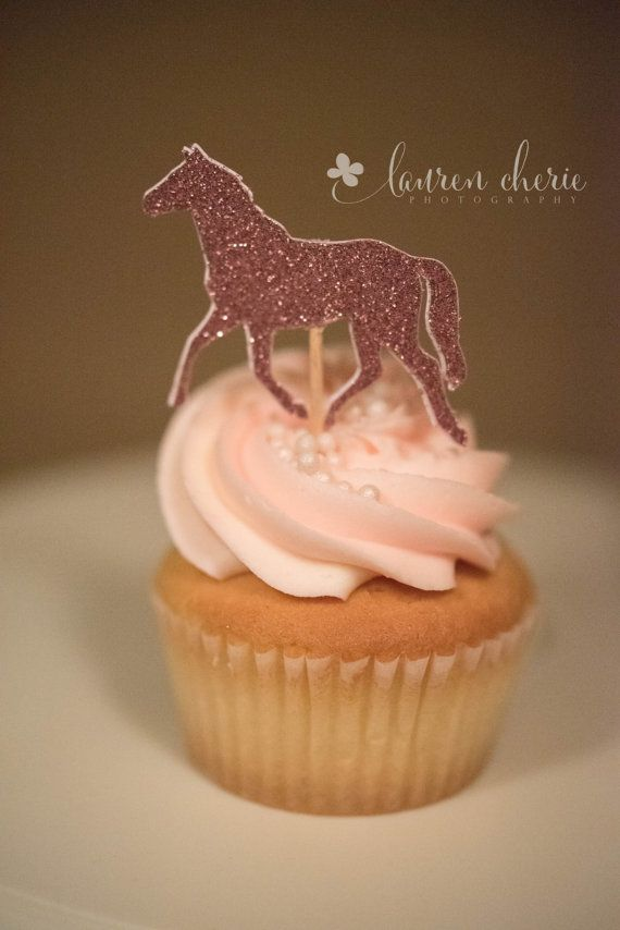 horse cupcake toppers Ships in 3-5 Business Days by PartyParts
