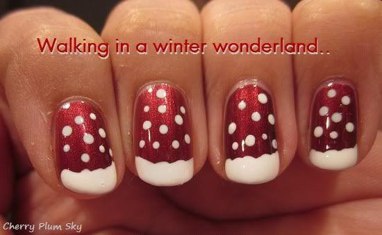 christmas snow nail-art
