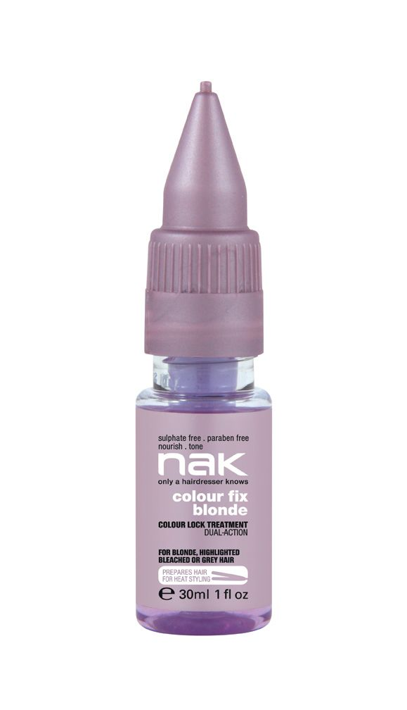 nak colour fix blonde / designed for colour treated, damaged or dry hair #sulphatefree #parabenfree #nourish #tone