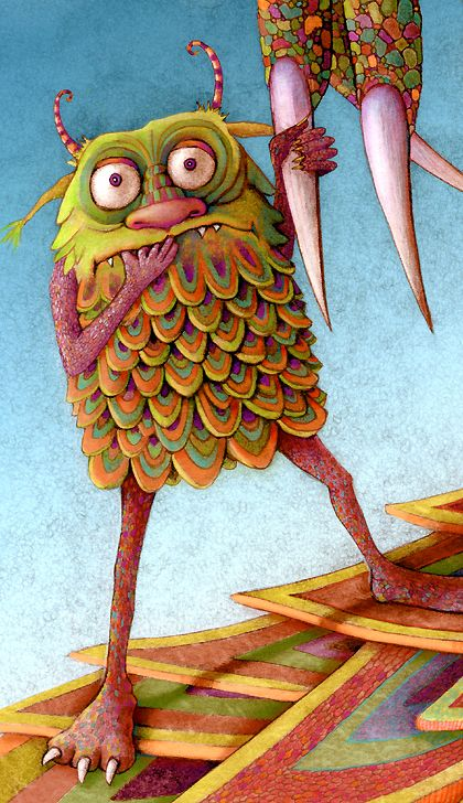 #art [funny little monster - looks rather like an owl lol. ;) Mo]