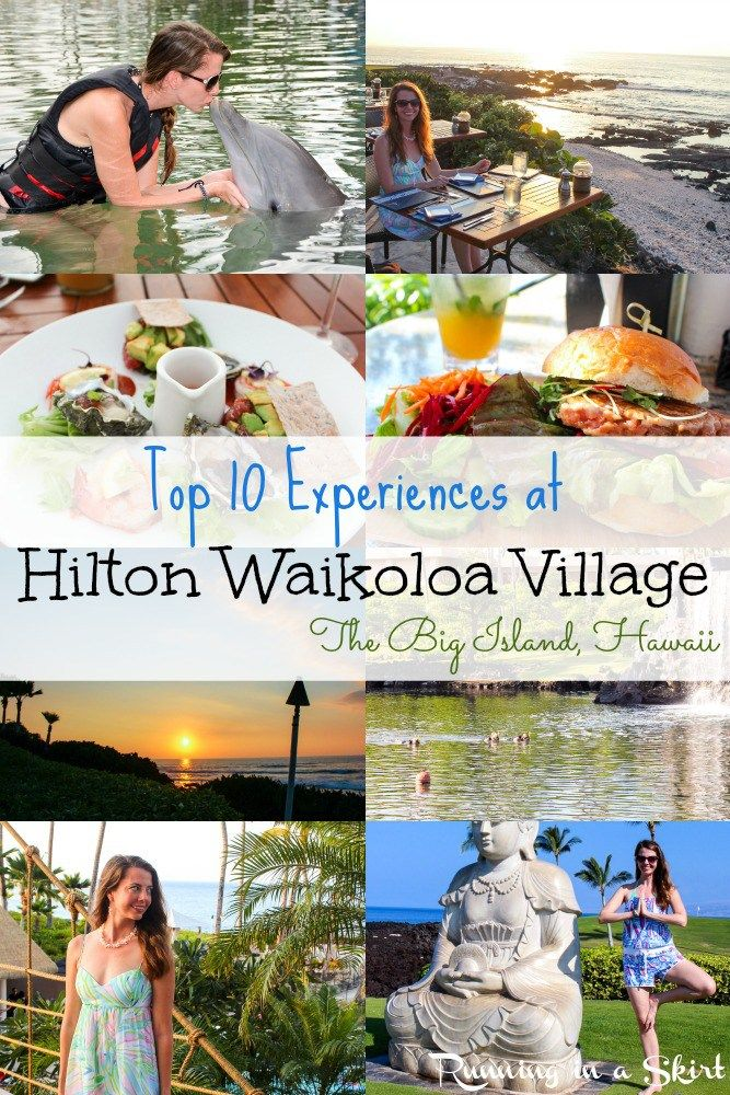 The Top 10 Experiences at Hilton Waikoloa Village on The Big Island, Hawaii - from dolphin swimming, yoga with views, snorkeling, green sea turtles and amazing food.... this resort has it ALL!  Bucket list! Top Resort / Hotel | Running in a Skirt