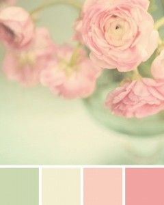 mint-pink-floral-palette possible colors for Casey's room. I like the idea of classying it up with greys