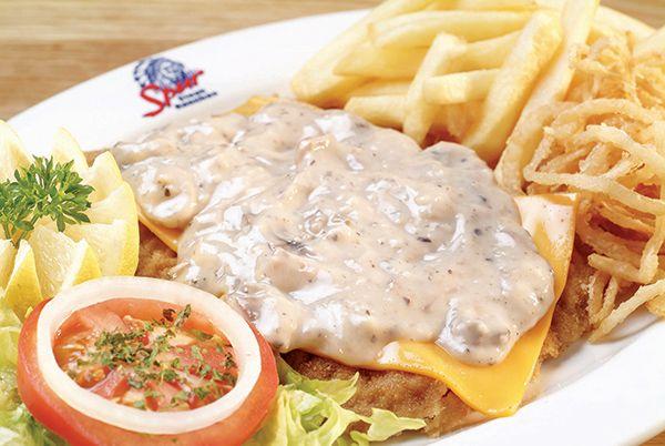 Spur's Cheddamelt Schnitzel http://www.spur.co.za/menu/chicken-schnitzel-seafood