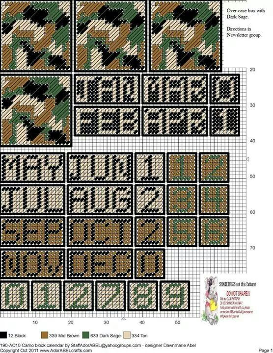 Camo cube calendar