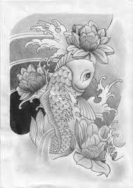 disegno tatuaggio carpa koi - Cerca con Google