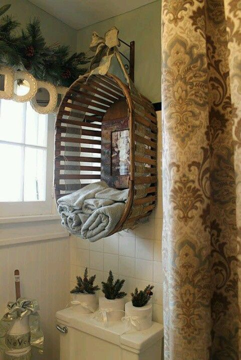 Love this idea for the bathroom!  Fb page Dumpster Diva