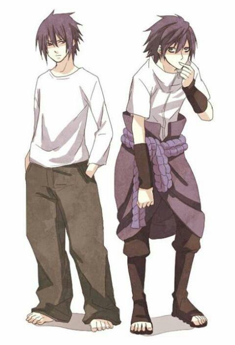 Sasuke and L switch clothes