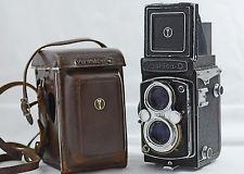 винтажный yashica-d двухобъективный Зеркальный пленочный фотоаппарат с чехлом 1958-74