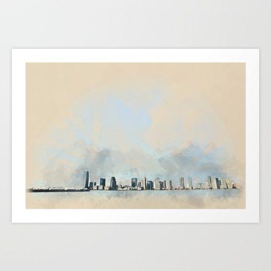 City skyline Art Print by JKdizajn - $22.88