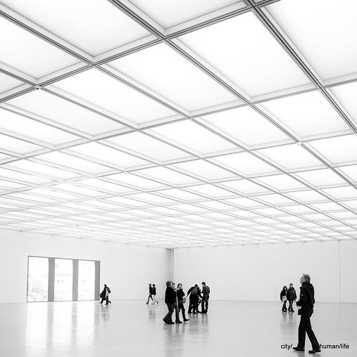Interior of the Folkwang museum in Essen by David Chipperfield. Photo by city/human/life.